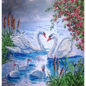 Лебеди Набор для вышивки бисером FeDi