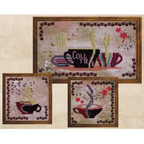 Кофейный аромат. Триптих Набор для вышивки бисером FeDi