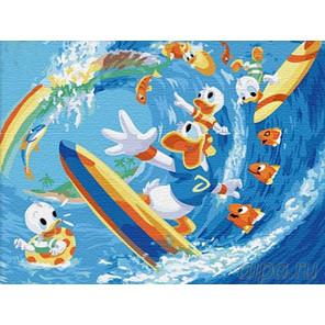 Серфингисты Раскраска картина по номерам на холсте