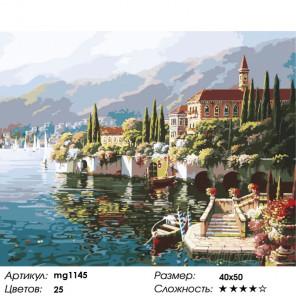 Отражение Вероны Раскраска картина по номерам на холсте MG1145