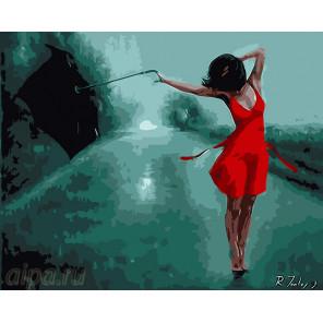 Танцующая под дождём Раскраска картина по номерам на холсте MG6821