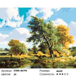 Количество цветов и сложность Ветренный день Раскраска картина по номерам на холсте KTMK-86794