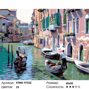 Количество цветов и сложность Венецианская прогулка Раскраска картина по номерам на холсте KTMK-97332