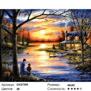 Количество цветов и сложность Деревенский пейзаж Раскраска картина по номерам на холсте GX27390