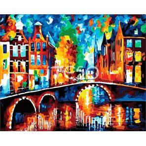 Вечерняя Голландия Раскраска картина по номерам акриловыми красками на холсте Iteso. Яркая, живая, радующая глаз картина.