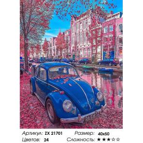 Количество цветов и сложность Фольксваген жук Раскраска картина по номерам на холсте ZX 21701