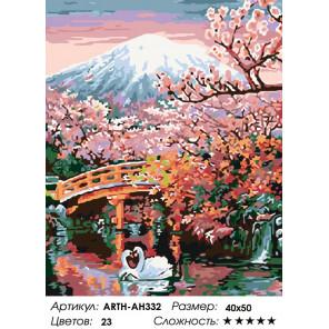 Количество цветов и сложность Красота востока Раскраска картина по номерам на холсте ARTH-AH332