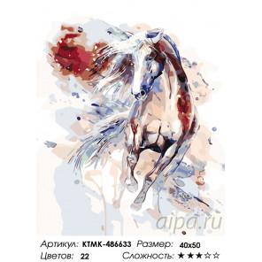Количество цветов и сложность Обгоняя ветер Раскраска картина по номерам на холсте KTMK-486633
