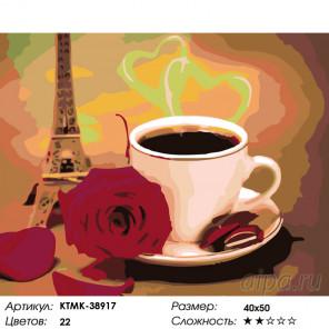 Ароматы парижа Раскраска картина по номерам на холсте KTMK-38917