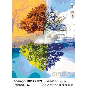 Четыре сезона Раскраска картина по номерам на холсте KTMK-51574