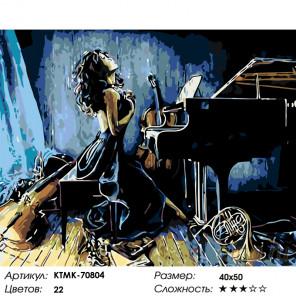 Количество цветов и сложность Творческий путь Раскраска картина по номерам на холсте KTMK-70804