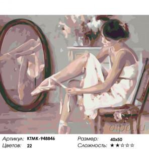 Балерина перед выступлением Раскраска картина по номерам на холсте KTMK-948846