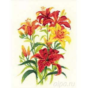Солнечные лилии Набор для вышивания Риолис 1782