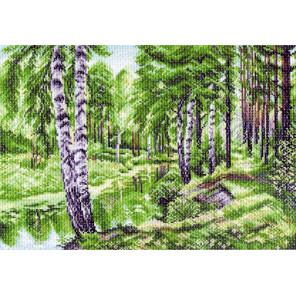 Летний пейзаж Канва с рисунком для вышивки Матренин посад