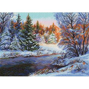 Мороз и солнце Канва с рисунком для вышивки Матренин посад