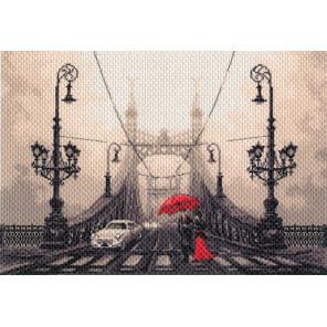 Туманный вечер в Будапеште Канва с рисунком для вышивки Матренин посад