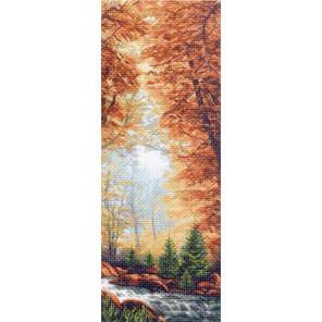 Золотая осень Канва с рисунком для вышивки Матренин посад