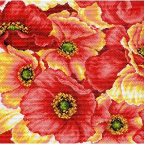 Маки Канва с рисунком для вышивки Матренин посад