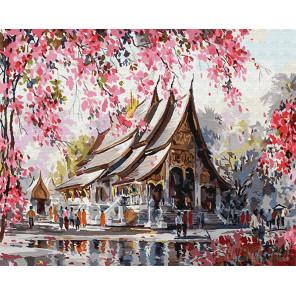 Весенний Тайланд Раскраска картина по номерам на холсте Z-GX22960