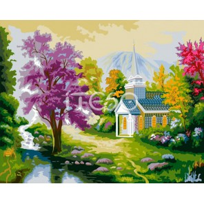 Сказочный уголок Раскраска картина по номерам акриловыми красками на холсте Iteso
