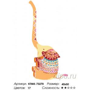 Количество цветов и сложность Счастливый слоник Раскраска по номерам на холсте Живопись по номерам KTMK-73270