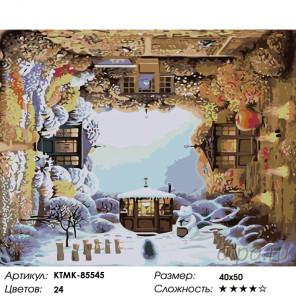 Количество цветов и сложность Сезоны Раскраска по номерам на холсте Живопись по номерам KTMK-85545