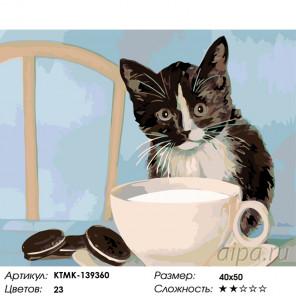 Завтрак с молоком Раскраска по номерам на холсте Живопись по номерам KTMK-139360