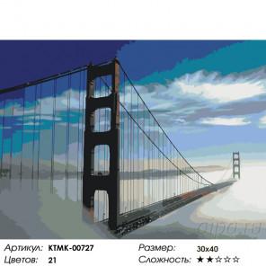 Количество цветов и сложность Мост в тумане Раскраска по номерам на холсте Живопись по номерам KTMK-00727