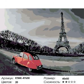 Прогулка по Парижу Раскраска по номерам на холсте Живопись по номерам KTMK-47650