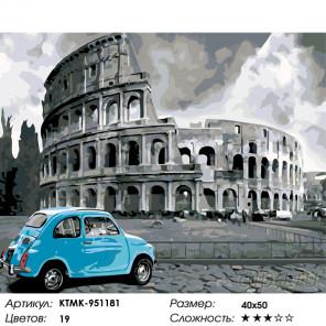 Количество цветов и сложность Римские каникулы Раскраска по номерам на холсте Живопись по номерам KTMK-951181