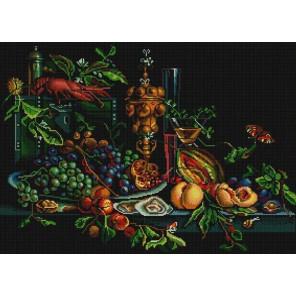 Голландский натюрморт Канва с рисунком для вышивки бисером