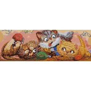 В рамке Игровые котята Канва с рисунком для вышивки бисером 1216