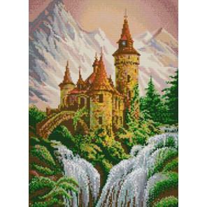 Замок в горах Канва с рисунком для вышивки бисером 1229