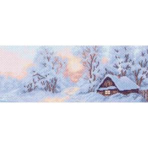 В рамке Морозное утро Канва с рисунком для вышивки Матренин посад 1202