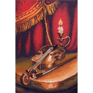 В рамке Скрипка Канва с рисунком для вышивки Матренин посад 1400