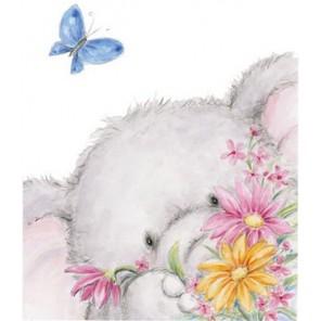 Белла и бабочка Набор силиконовых штампов для скрапбукинга, кардмейкинга Wild Rose Sudio