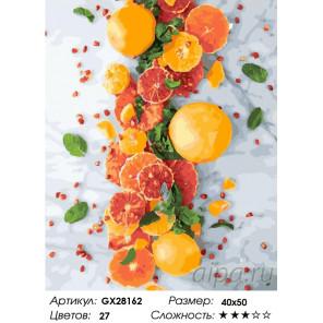 Количество цветов и сложность Цитрусовое настроение Раскраска картина по номерам на холсте GX28162