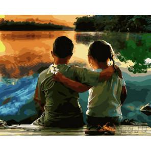 Дружба на берегу Раскраска картина по номерам на холсте