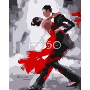 Танго Раскраска по номерам акриловыми красками на холсте Iteso