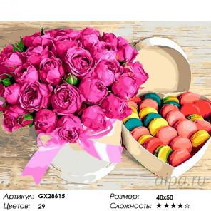 Цветы и сладости Раскраска картина по номерам на холсте GX28615