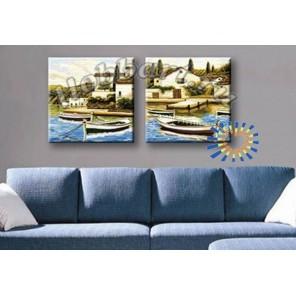 Приморский уголок Раскраски картины по номерам акриловыми красками на холсте Hobbart