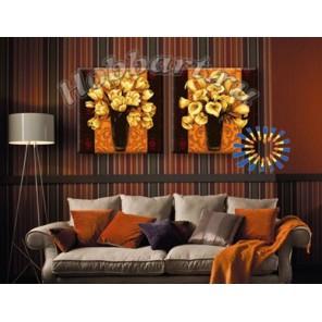 Золотые букеты Раскраски картины по номерам акриловыми красками на холсте Hobbart