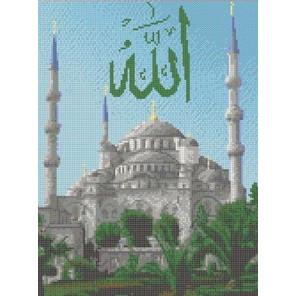 Голубая мечеть Канва с рисунком для вышивки Каролинка