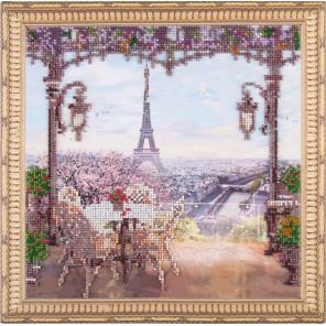 Весенний Париж Набор для вышивания бисером на подрамнике Color Kit OP002