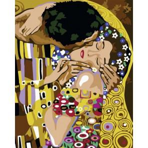 Поцелуй (Репродукция Густав Климт) Раскраска картина по номерам акриловыми красками на холсте Color Kit