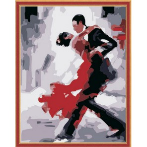 Танго Раскраска картина по номерам акриловыми красками на холсте Menglei