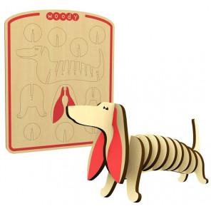 Такса 3D Пазлы деревянные Woody