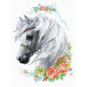 Белогривая лошадка Набор для вышивания Риолис 1804