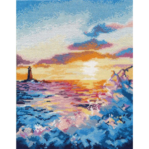 Закат на море Набор для вышивания Овен 1182