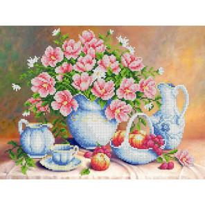 Летнее утро Канва с рисунком для вышивки бисером Каролинка ТКБЦ 3043